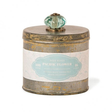 Rosy Rings Candles - Beach Tins Collection - Pacific Flower