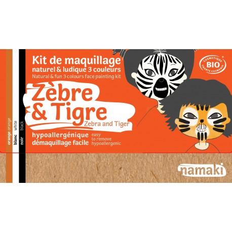 Namaki - Trucco per bambini - Zebra e Tigre